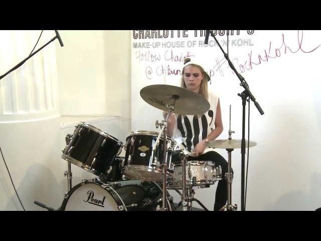 Cara Delevingnes Drumming Debut at Charlotte Tilburys House of RockNKohl! | @CTilburyMakeup
