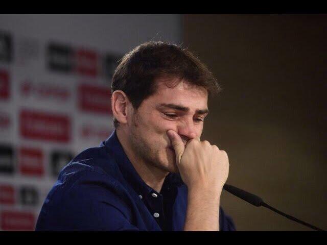 Прощальная пресс конференция Икера Касильяса началась со слез вратаря