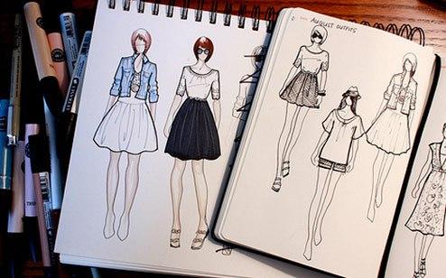 Дизайны одежды нарисованные