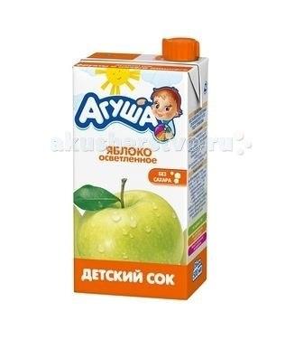 Соки и напитки Сок осветлённый без сахара Яблоко 500 мл, Агуша