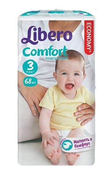 Подгузники Подгузники Baby Soft (4-9 кг) 68 шт., Libero