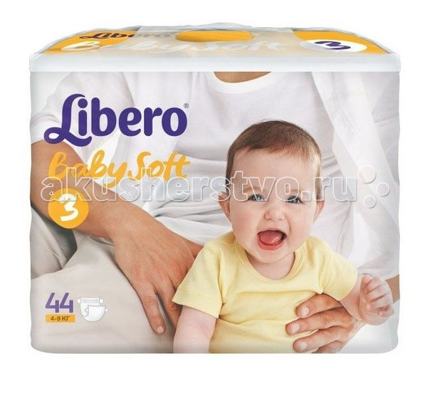 Подгузники Подгузники Baby Soft (4-9 кг) 44 шт., Libero
