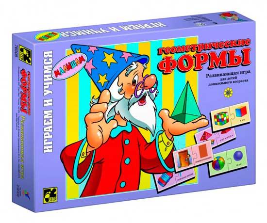 Игры для школьников Настольная игра Геометрические формы серия Играя, учись, Step Puzzle