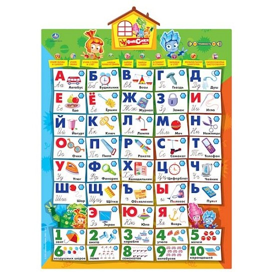 Обучающие плакаты Обучающий плакат Первая азбука, Умка