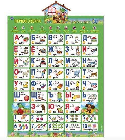 Обучающие плакаты Говорящий плакат Азбука, Умка