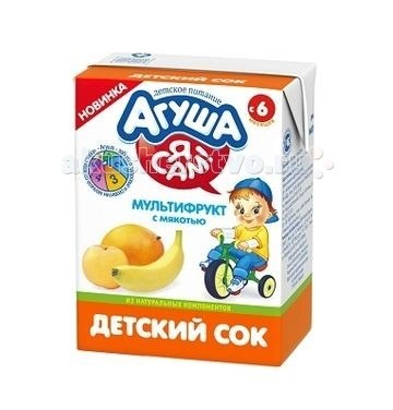 Соки и напитки Сок с мякотью Мультифрукт 200 мл, Агуша
