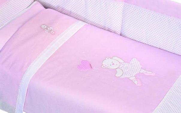 Комплекты для кроваток Мишка Балерина длинный борт (6 предметов), Andy & Helen