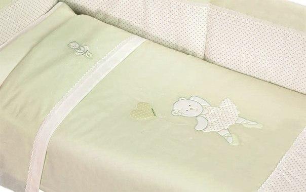 Комплекты для кроваток Мишка Балерина короткий борт (6 предметов), Andy & Helen