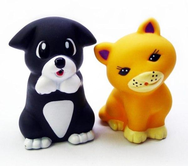 Игрушки для купания Набор для купания Котёнок Мяу и щенок, Жирафики