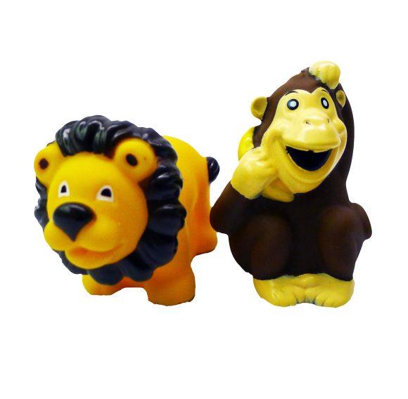 Игрушки для купания Набор для купания Лев и обезьянка 2 шт., Жирафики
