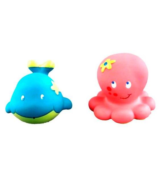 Игрушки для купания Набор для купания Кит и осьминожка, Жирафики