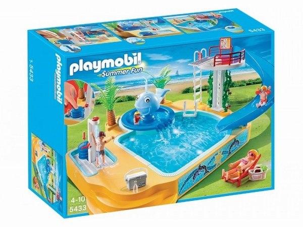 Игровые наборы Игровой набор Каникулы: Детский бассейн с фонтаном, Playmobil