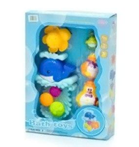 Игрушки для купания Кит для игры в воде + 4 игрушки 8803A, Ocie