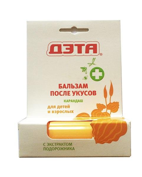 Средства от насекомых Бальзам-карандаш после укусов для детей и взрослых, Дэта