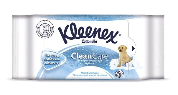 Салфетки Влажная туалетная бумага 42 шт. (сменный блок), Kleenex