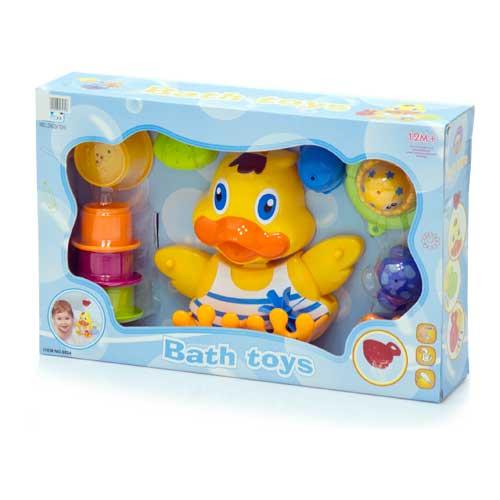 Игрушки для купания Утенок для игры в воде + 10 игрушек 8824, Ocie