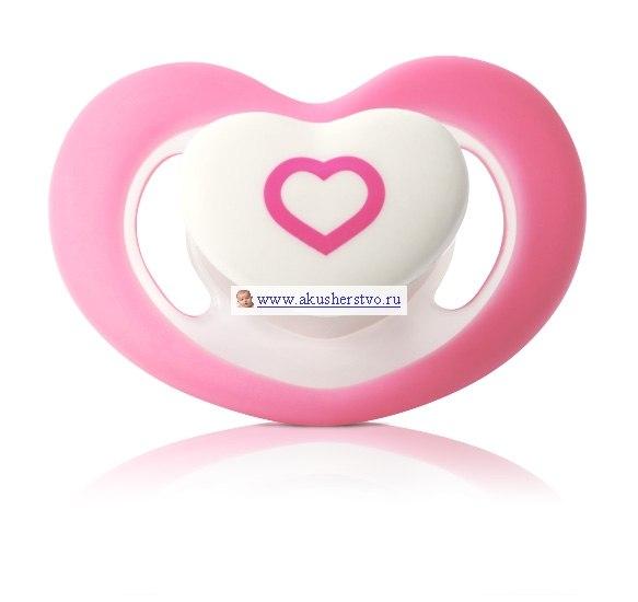 Пустышки силиконовая анатомическая Сердце 0-6 мес, BabyOno