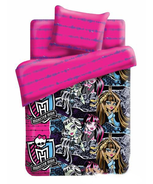 Постельное белье 1.5-спальное Monster High Школа монстров 1.5-спальное (3 предмета), Непоседа