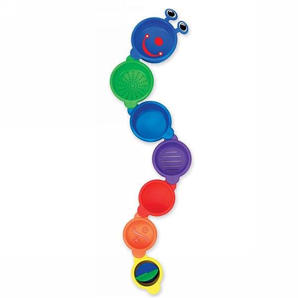 Игрушки для купания Игрушка для ванной Пирамидка-Гусеница, Munchkin
