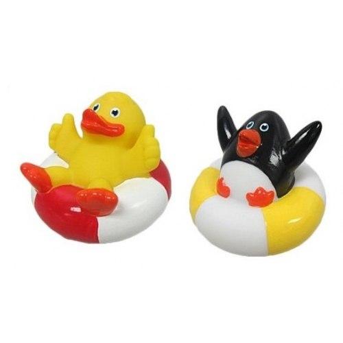 Игрушки для купания Набор Утенок и Пингвин, Жирафики