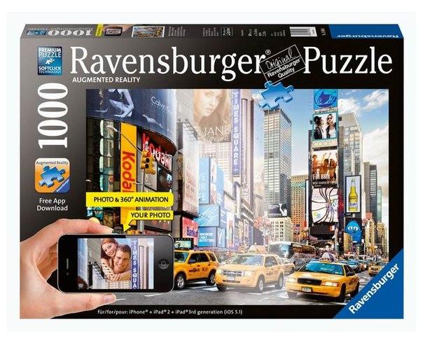 Пазлы Пазл Утро на Таймс-сквер с видео-анимацией 1000 элементов, Ravensburger