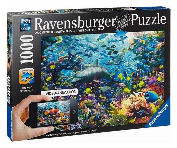 Пазлы Пазл Подводное царство с видео-анимацией 1000 элементов, Ravensburger