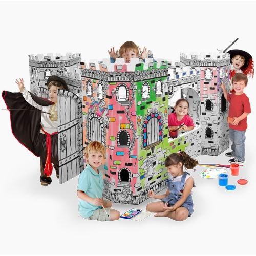 Палатки-домики Картонный домик-раскраска Крепость, CartonHouse