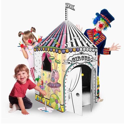 Палатки-домики Картонный домик-раскраска Цирк, CartonHouse