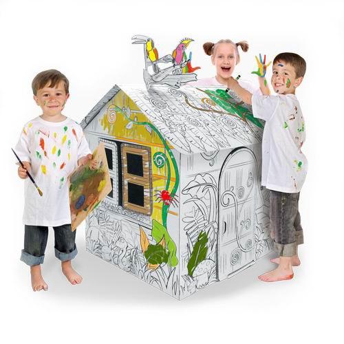 Палатки-домики Картонный домик-раскраска Джунгли, CartonHouse
