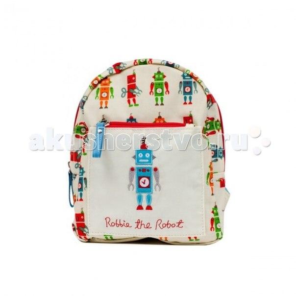 Сумки для детей Детский мини-рюкзак Robbie The Robot, Pink Lining