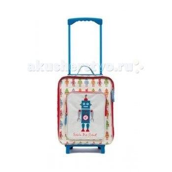 Сумки для детей Детский дорожный чемодан Robbie The Robot, Pink Lining