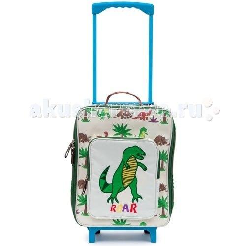 Сумки для детей Детский дорожный чемодан Dinosaur Walk, Pink Lining