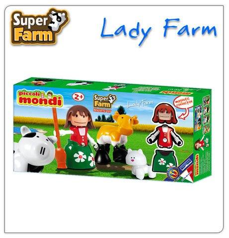 Конструкторы Piccoli Mondi Super Farm Lady Farm, Plastwood