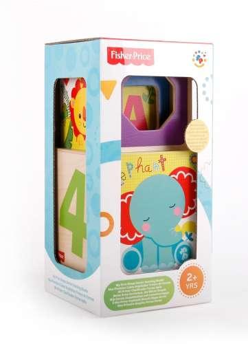 Деревянные игрушки Набор из 4 кубиков-сортеров и формочек, Fisher Price