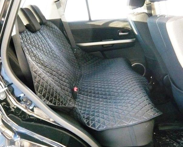 Аксессуары для автомобиля Защитная накидка на все заднее сиденье автомобиля стеганая А-022, Russia