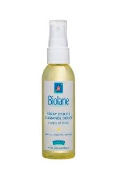 Косметика для малыша Нежное миндальное масло-спрей с витамином Е 75 мл, Biolane