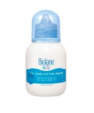Косметика для малыша Гель для купания и шампунь 2 в 1 для детей с 3 лет 250 мл, Biolane