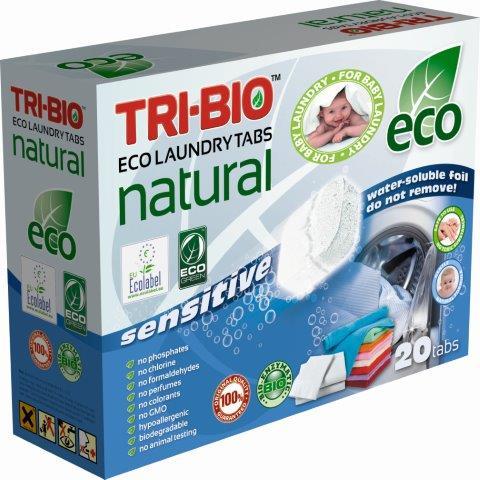 Моющие средства Натуральные Эко таблетки для стирки 20 таб., Tri-Bio