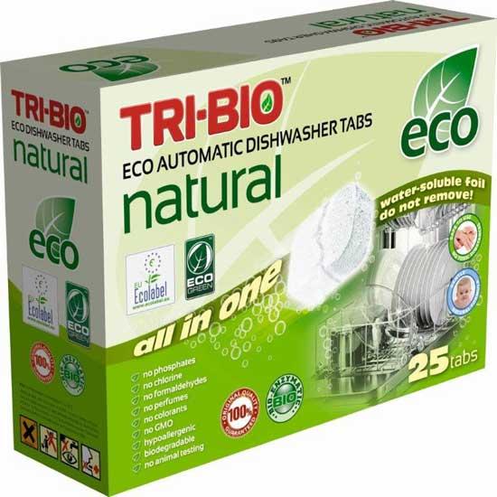 Моющие средства Натуральные Эко таблетки для посудомоечных машин 25 таб., Tri-Bio