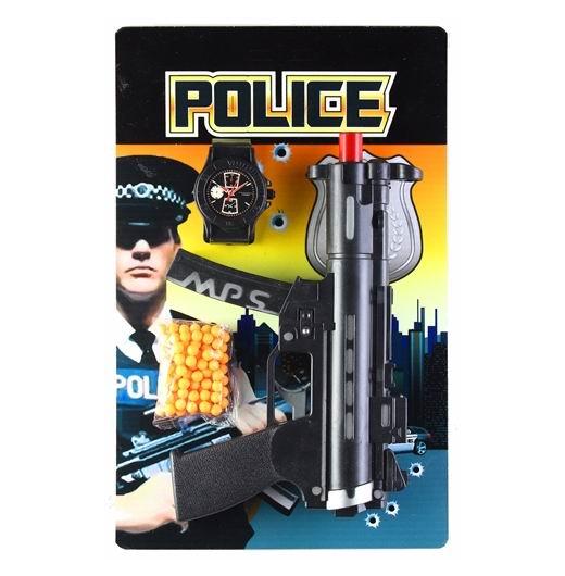 Игрушечное оружие Police Игровой набор пистолет, полицейский значок и пульки, Pullman