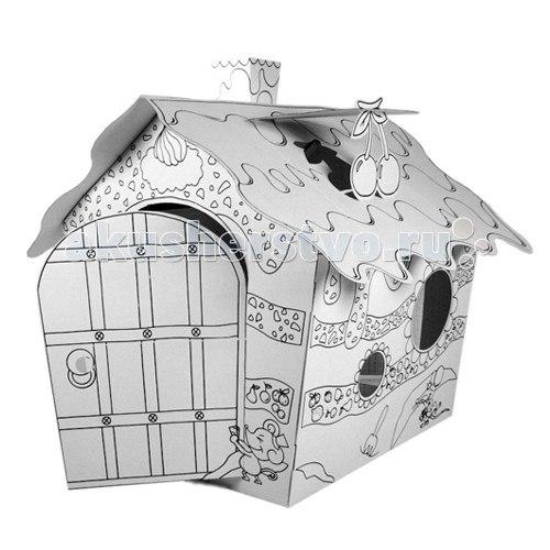 Палатки-домики Картонный домик-раскраска Фруктовый домик, CartonHouse