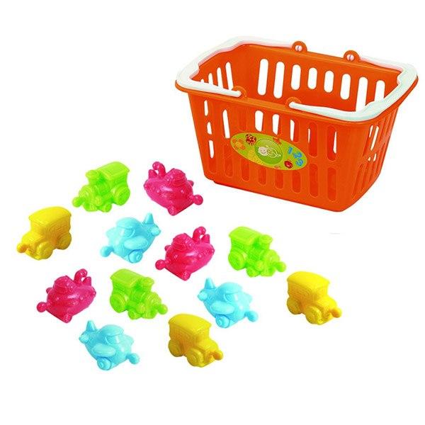 Развивающие игрушки Транспортые игрушки в корзине, Playgo
