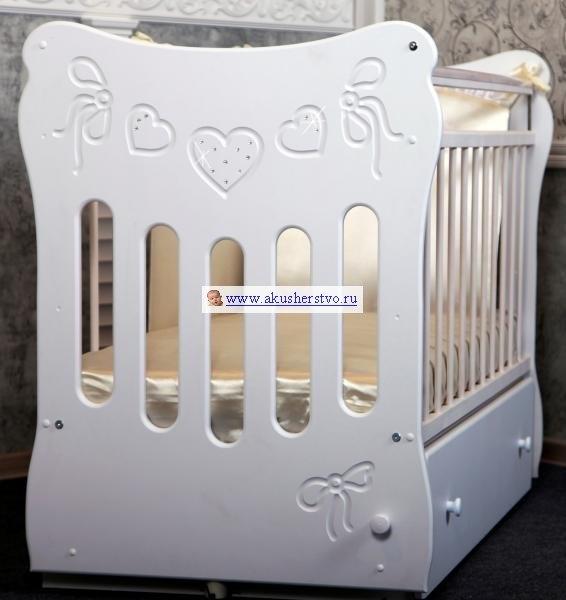 Детские кроватки Бантики (маятник поперечный), Островок уюта