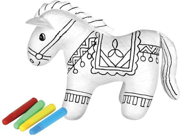 Раскраски Заколдованная лошадка с набором фломастеров, Мир детства