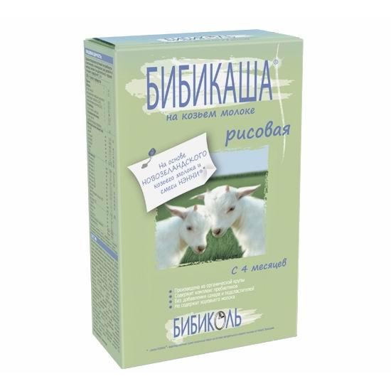 Каши Бибикаша Рисовая на козьем молоке с 4 мес. 250 г, Бибиколь