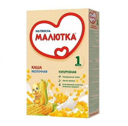 Каши Кукурузная молочная каша с 5 мес. 220 г, Малютка