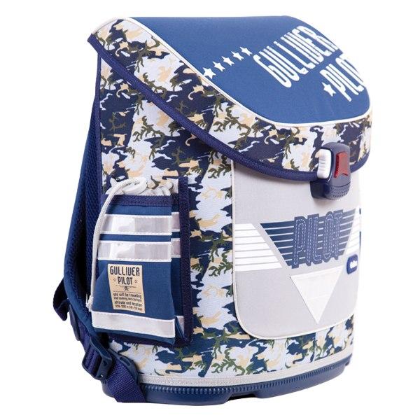 Портфели Ортопедический рюкзак с анатомической спинкой Пилот, Gulliver