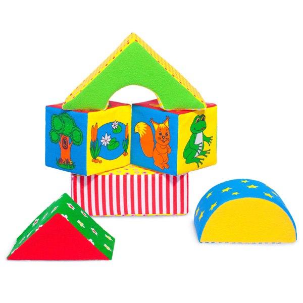 Развивающие игрушки Кубики Домики, Мякиши