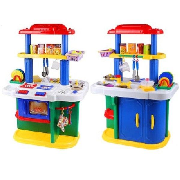 Ролевые игры Кухня большая двухсторонняя + 65 предметов ZB-6001, Ocie
