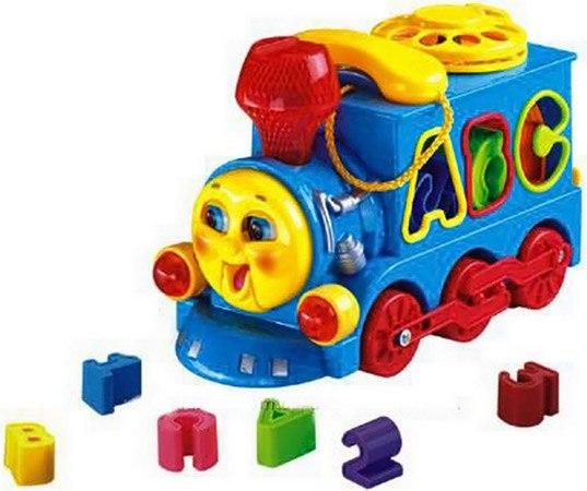 Каталки-игрушки Сортер Паровозик с телефоном 8810, Ocie